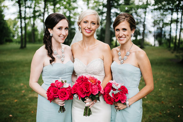 A lovely cherry orchard wedding on a rainy day in Michigan by Dan Stewart Photography