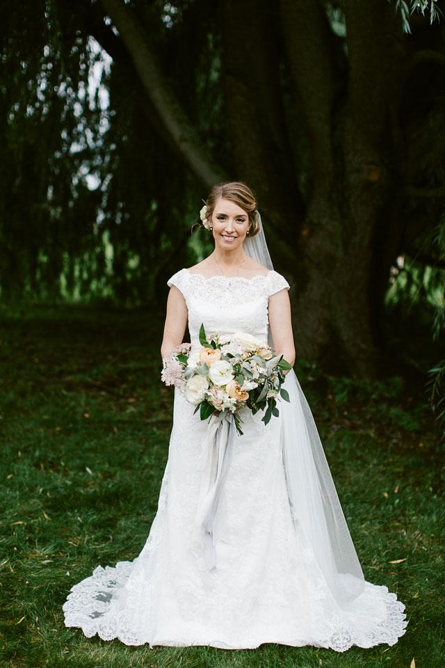 A Northern Michigan vineyard wedding with an elegant tented reception by Dan Stewart Photography