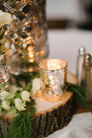 A winter wedding elegantly draped in pine, birch wood and natural touches | Dani White Photography: http://www.daniwhitephotography.com