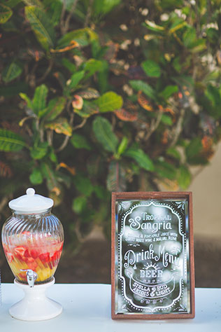A dreamy island wedding in shades of pale blue with a fiery Maui sunset by Dmitri and Sandra Photography and Bliss Wedding Design & Spectacular Events