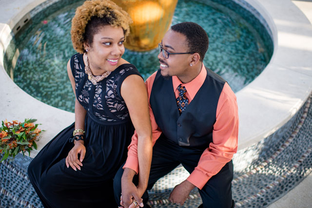 An island styled engagement session in Palm Beach with chic fashion by Dragonfly Photography