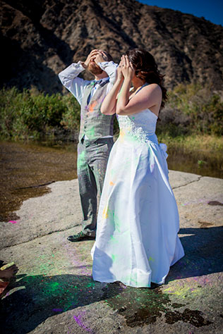 A trash the dress photo shoot turns into a secret proposal, much to the bride's surprise | Elizabeth Finnegan Photography