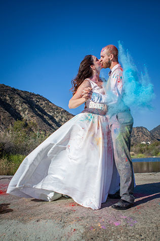 A trash the dress photo shoot turns into a secret proposal, much to the bride's surprise   Elizabeth Finnegan Photography
