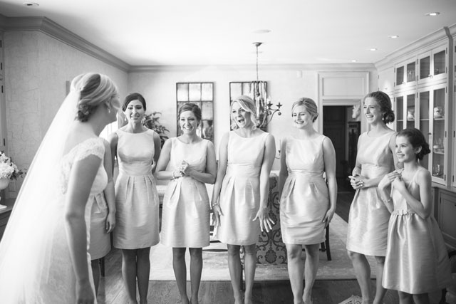 A romantic country club wedding in Ohio with a palette of ivory, blush, champagne and gold   Emily Millay Photography: http://emilymillayphotography.com