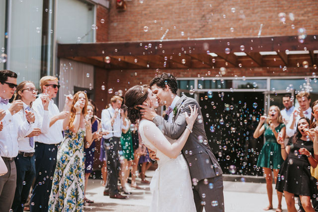 A charming DIY brunch wedding with doughnuts and a wedding waffle instead of a cake by Emily Nicole Photo