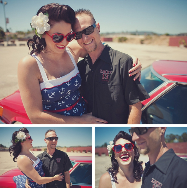 A rockabilly boardwalk engagement shoot by Encarnacion Photography    see more on blog.nearlynewlywed.com