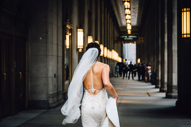 An autumn Salvage One wedding in Chicago with DIY details and urban flair | Erin Hoyt Photography: http://erinhoytphotography.com