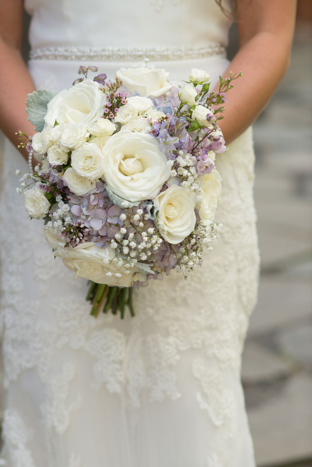 A rustic and romantic navy blue and lavender barn wedding in Wisconsin by Erin Johnson Photography