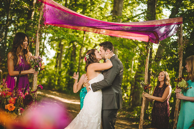 A funky and artistic bohemian farm wedding in Asheville by Fete Photography