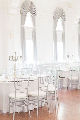 A mint and lavender hotel ballroom wedding in Tulsa by Fleckography Co.