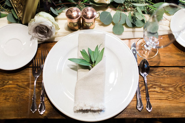 A Tuscan inspired wedding at Bella Rose Plantation in Virginia with gorgeous greenery, olive oil favors and a blush palette by Gaudium Photography
