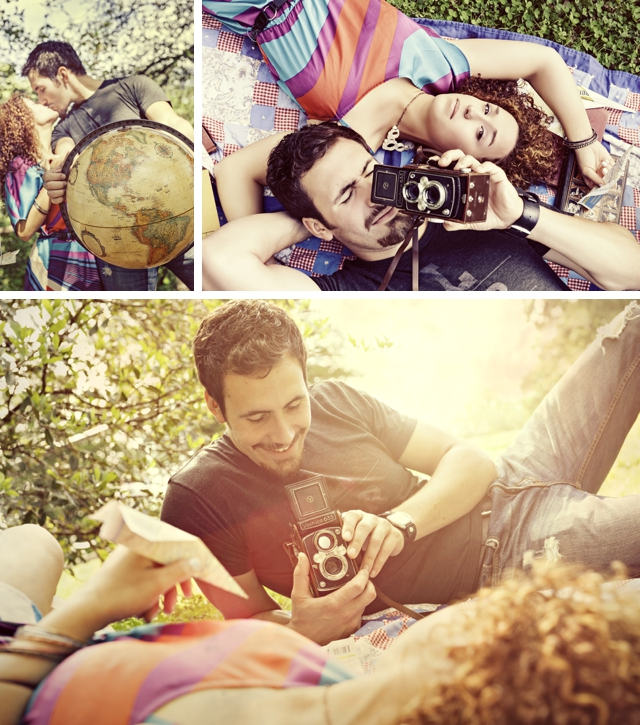 An adorable travel-themed e-shoot with paper airplanes by GetzCreative Photography || see more on blog.nearlynewlywed.com