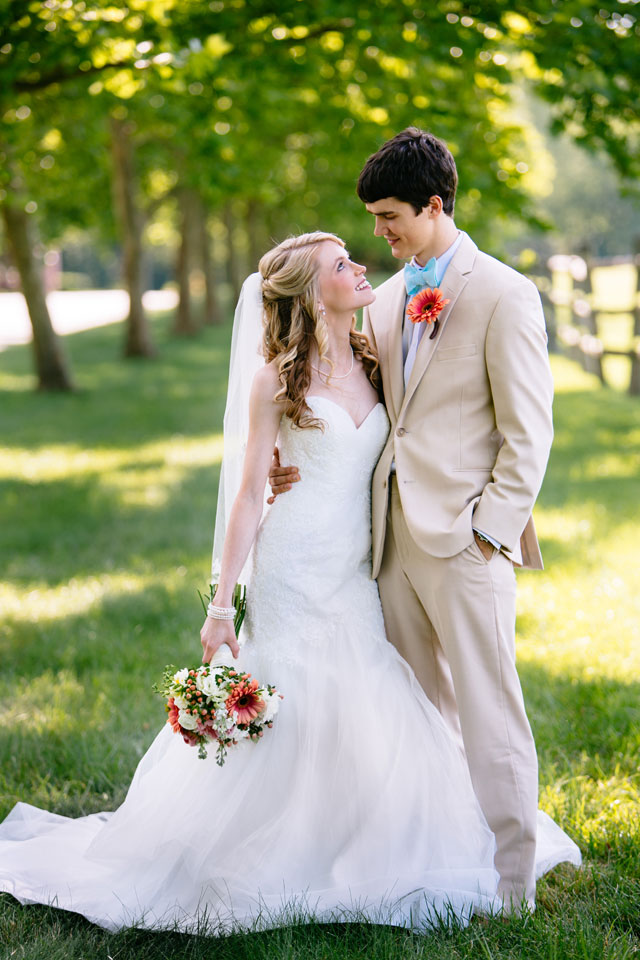 A beautiful coral, turquoise and blush summer vineyard wedding in Virginia   Grant & Deb Photographers: http://grantdeb.com