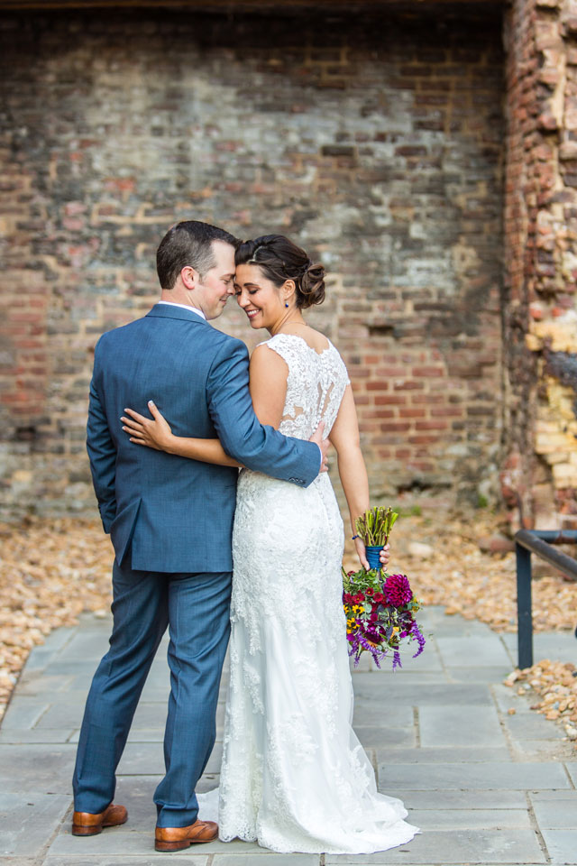 A late autumn Tredegar Iron Works wedding with a jewel toned theme by Grant & Deb Photography