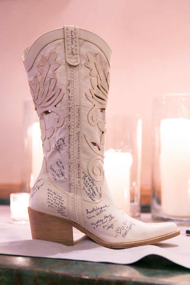 """An elegant and rustic Wyoming ranch wedding with a """"Tuxedo and Boots"""" theme // photo by Hannah Hardaway Photography: http://hannahhardawayphotography.com 