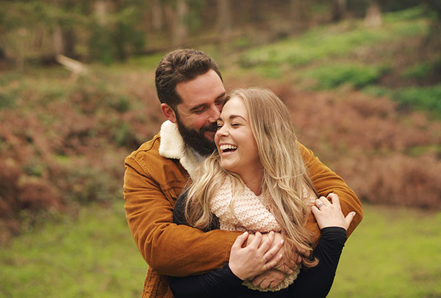 A winter engagement session at The Presidio in San Francisco | Hannah Kate Photography: http://www.hannahkatefotographie.com