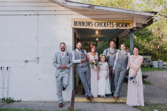 A romantic and glam outdoor spring wedding in Louisiana with a tented reception by Heirloom Collective