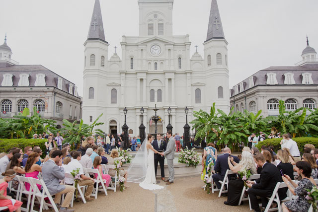 A destination French Quarter and historic Jackson Square wedding with a second line by Heirloom Collective