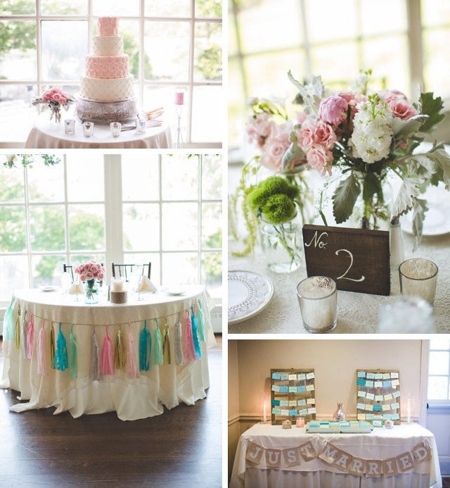 A sweet, romantic rustic wedding in blush pink with a dash of sparkle by Hello Gorgeous Photography || see more on blog.nearlynewlywed.com