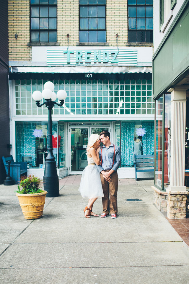 A romantic Historic Lebanon engagement session with vintage flair, just north of Nashville // photo by High Five For Love Photography: http://www.highfiveforlove.com    see more on https://blog.nearlynewlywed.com