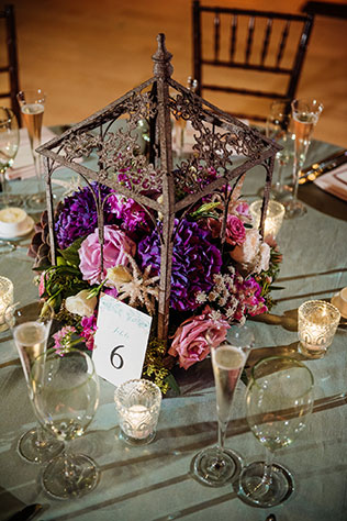 A lovely purple Napa inspired wedding in Philadelphia with wine country details by Hoffer Photography and Truly You Events
