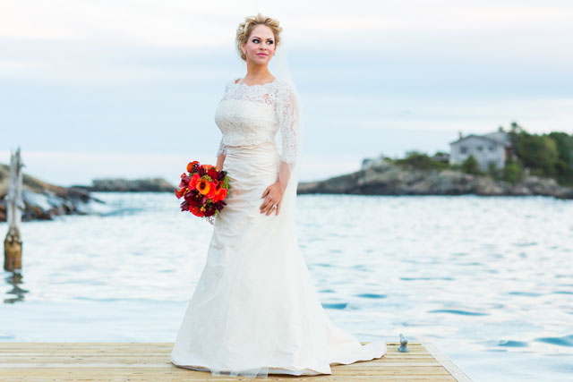 A romantic sailboat vow renewal off the coast of Maine by I AM SARAH V Photography