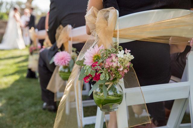 An elegant fuchsia and gold summer wedding at Gervasi Vineyard   Imagine It Photography: http://www.ImagineItPhotography.com