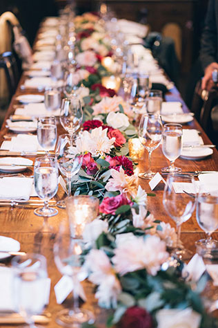 A rainy day wedding in San Francisco with a classic palette of black, white and burgundy by JBJ Pictures