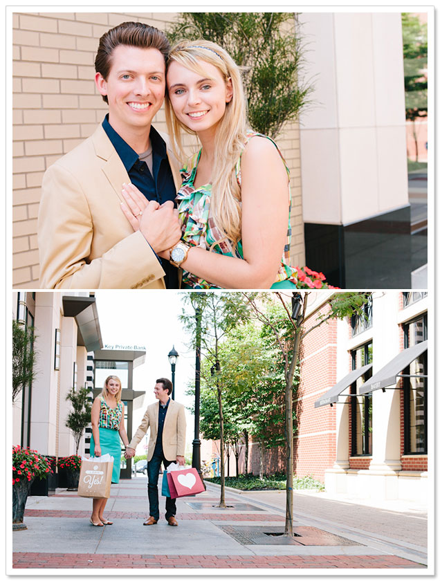 Crocker Park Engagement Session by Jessica Christie Photography on ArtfullyWed.com