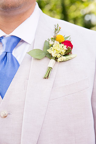 A sweet and colorful summer wedding with Southern charm and a pie bar by J&D Photography