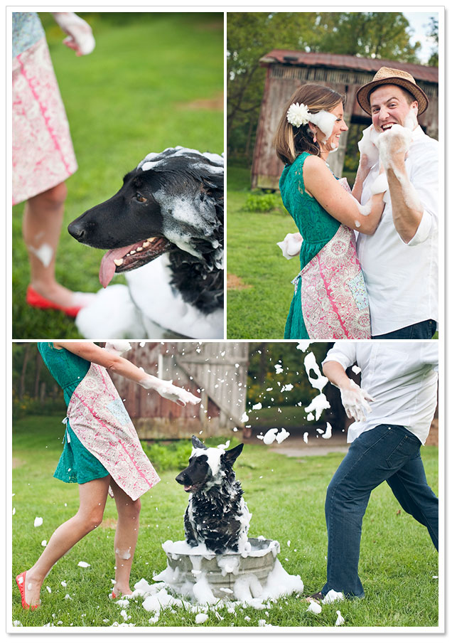 Doggie Wash Anniversary Session by Jennie Andrews Photography on ArtfullyWed.com