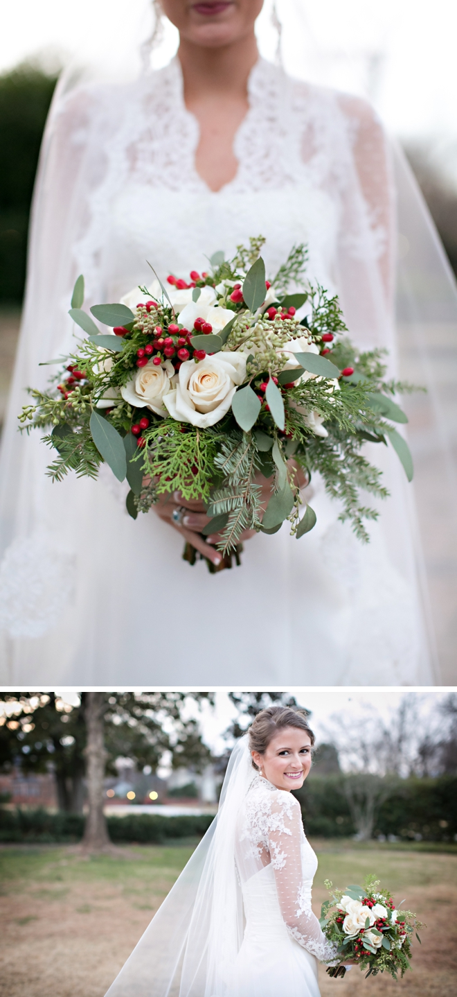 A festive holiday-themed wedding in South Carolina | Jennifer Stuart Photography: http://www.jenniferstuartphotography.com