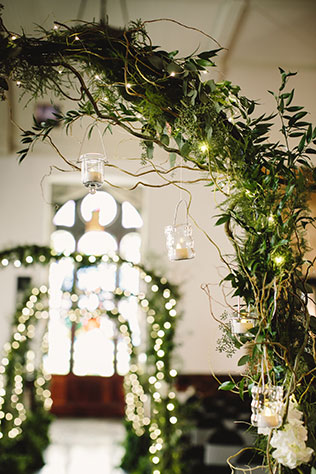 A lovely greenery filled autumn wedding at The Sanctuary on Penn by Jennifer Van Elk Photography