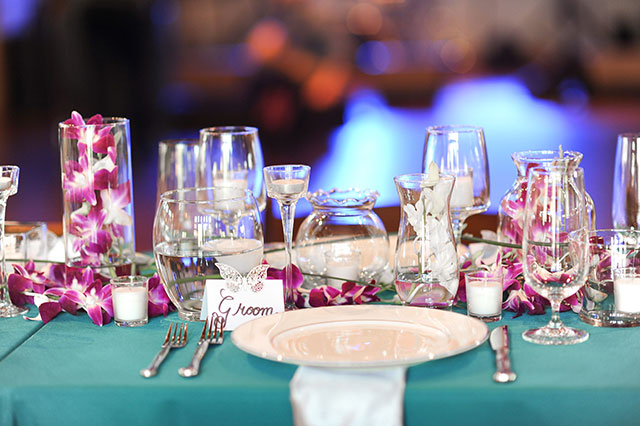 A beautiful Camp Lucy wedding with teal and magenta details by Jessica Frey Photography