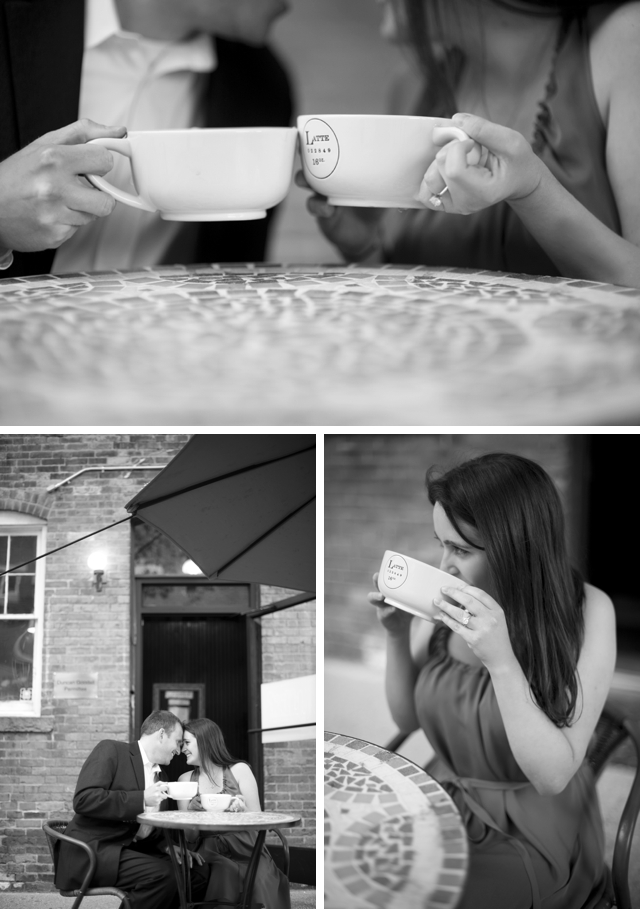 A sweet and fashionable Parisian engagement in Connecticut by Justin & Mary