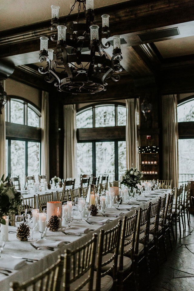 An April Lake Tahoe wedding with a magical snowy backdrop by Jocelyn Noel and Hunter & Company, Event Planning and Design