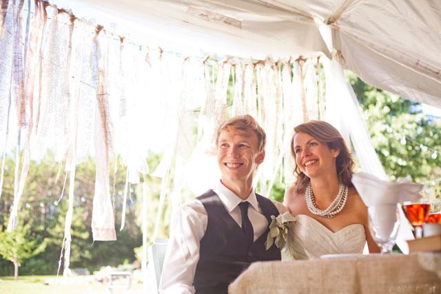 A DIY country wedding in the couple's backyard in Southern Ontario | Jono & Laynie [Photo + Film]: http://www.jonoandlaynie.com