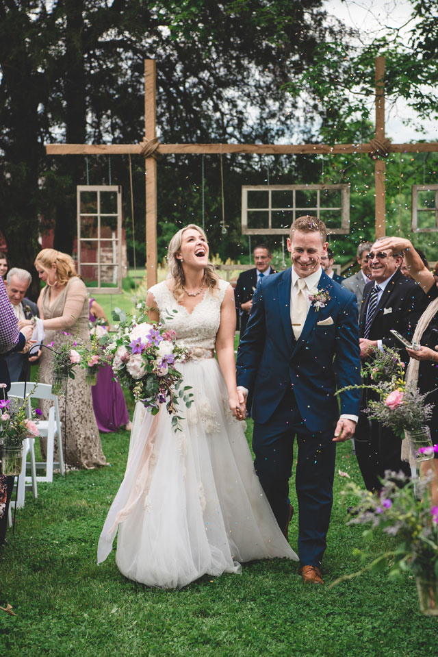 A colorful and creative Forestville barn wedding for two artists by Julie Floro Photography