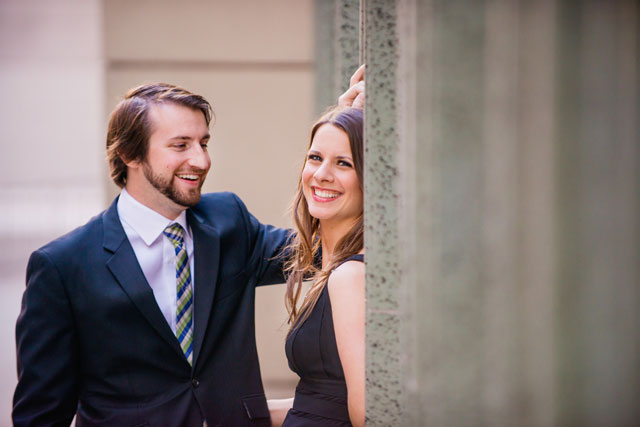 An engagement session in downtown Los Angeles and Elysian Park at sunset // photos by Julie Shuford Photography: http://www.julieshuford.com || see more on https://blog.nearlynewlywed.com