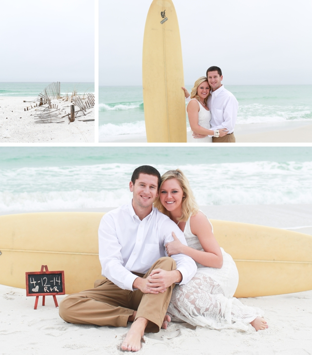A foggy beach engagement in Pensacola by Kate's Captures Photography    see more on blog.nearlynewlywed.com