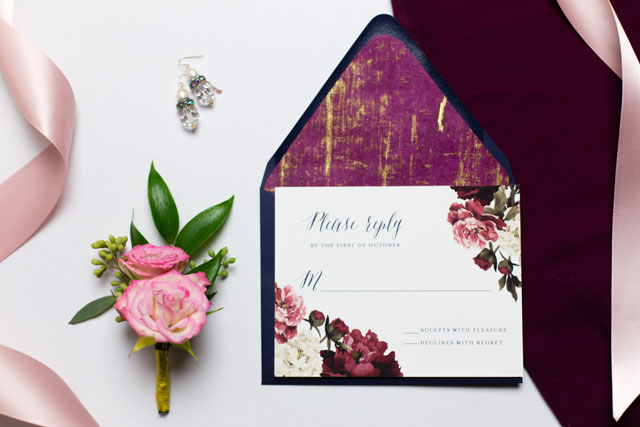 A romantic and private raspberry and gold vow renewal by Katy Murray Photography
