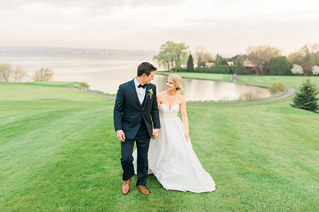 A romantic blush and gold lakeside wedding in Ontario by Kayla Potter Photography