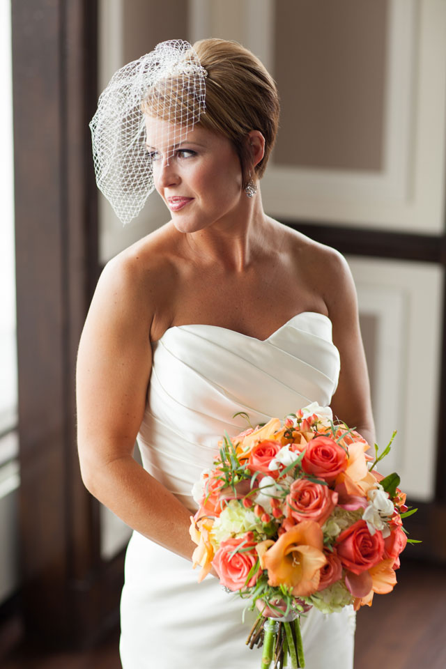 A modern wedding on the top story of the 2nd largest building in Fort Wayne with a flower ceremony and traditional Samoan bridal dance | Kelly Benton Photography: http://www.kellybenton.com