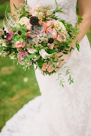 A beautiful tented backyard wedding with vintage, blush-hued decor | Kelly Brown Weddings: http://kellybrownweddings.com