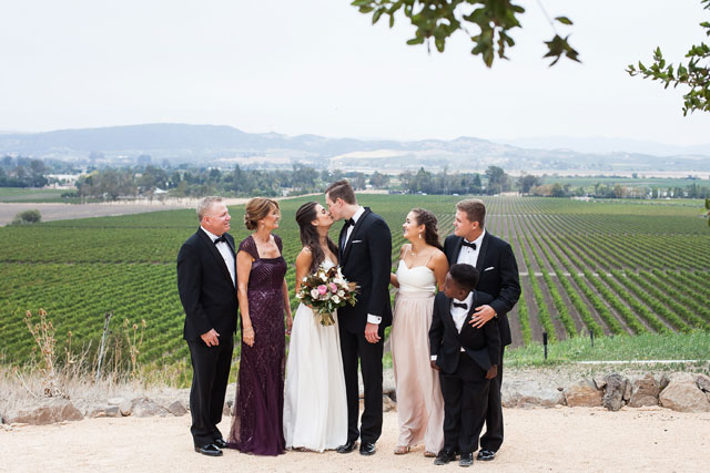 An incredible champagne vineyard wedding in Sonoma with a nude palette by Kreate Photography