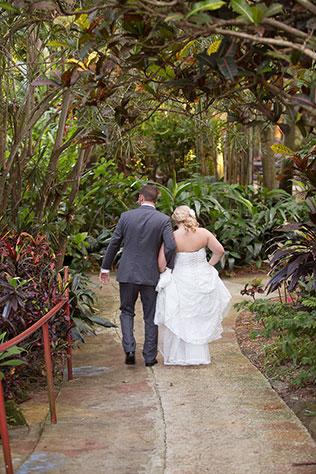 A lovely autumn outdoor Sunken Gardens wedding in St. Pete by Kristen Marie Photography