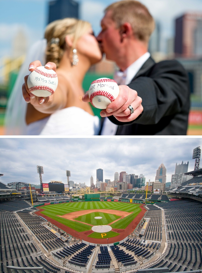 PNC Park Wedding by Krystal Healy Photography
