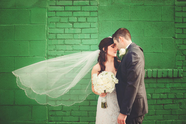 A vintage-inspired museum wedding at Engine House 25, home to a winery and the Roberto Clemente Museum | La Candella Weddings: lacandellaweddings.com