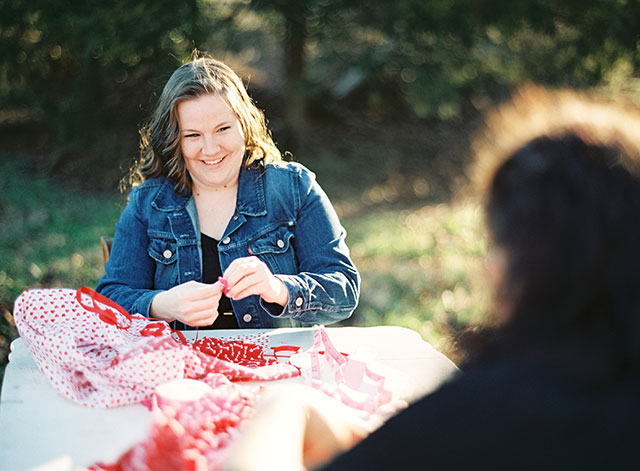 A same-sex Valentine's Day engagement shoot with the couple's dachshund | Laura Gordon Photography: http://www.lauragordonphotography.com