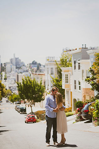 A San Francisco engagement shoot spent touring the city, dining, drinking and dancing | Lauren Lindley Photography: http://www.laurenlindley.com